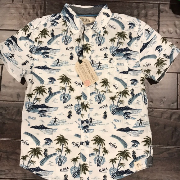 27fec0dc Free Planet Shirts & Tops | Nwt Boys Hawaiian Shirt | Poshmark